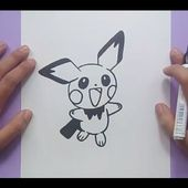 Como dibujar a Pichu paso a paso - Pokemon | How to draw Pichu - Pokemon