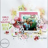 Scrapdelight 'Girls Just Wanna Have Fun' Mini Process Video