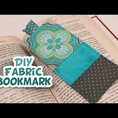 DIY Fabric Bookmark {EASY} - Whitney Sews