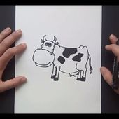 Como dibujar una vaca paso a paso 6 | How to draw a cow 6