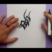 Como dibujar un tribal paso a paso 127 | How to draw one tribal 127