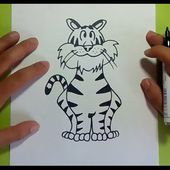 Como dibujar un tigre paso a paso 3 | How to draw a tiger 3