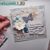 SHABBY CHIC Fast & Easy Card tutorial for Riddersholm Design ♡ Maremi's Small Art ♡