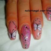 Nail art facile, nail art papillon, nail art au gel