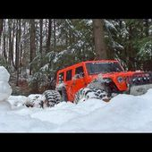 Project Wroncho - Urban Snow Bash - SCX10 Chassis with Wraith Axles - Slow Motion
