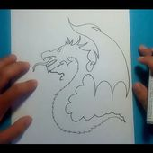 Como dibujar un dragon paso a paso 9 | How to draw one dragon 9