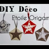 Etoile Origami en Tissu - Tuto DIY Déco Couture