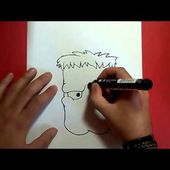 Como dibujar a Frankenstein paso a paso 6 | How to draw Frankenstein 6