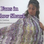 Fans in a Row Lacy Shawl - Crochet Tutorial