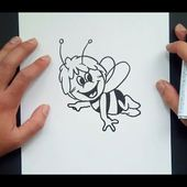 Como dibujar a la Abeja Maya paso a paso 2 - La Abeja Maya | How to Draw Maya the Bee 2¡