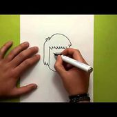Como dibujar a Musculitos paso a paso - Historias corrientes | How to draw Muscle Man - Regular show