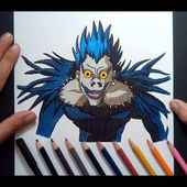 Como dibujar a Ryuk paso a paso - Death Note | How to draw Ryuk - Death Note