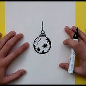 Como dibujar una bola de arbol de navidad paso a paso 4 | How to draw a ball of Christmas tree 4