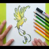Como dibujar un pajaro paso a paso 9 | How to draw a bird 9