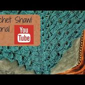 Crochet shawl tutorial (row 12)