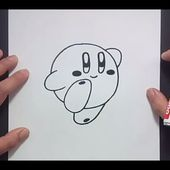 Como dibujar a Kirby paso a paso - Videojuegos Mario | How to draw Kirby - Mario video games