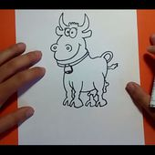 Como dibujar una vaca paso a paso 3 | How to draw a cow 3