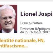Lionel Jospin - L'anti-fascisme n'était que du théâtre - FRONT NATIONAL 81