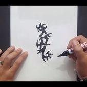 Como dibujar un tribal paso a paso 147 | How to draw one tribal 147