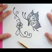 Como dibujar una mariposa paso a paso 15 | How to draw a butterfly 15