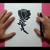Como dibujar una rosa paso a paso 8 | How to draw a rose 8