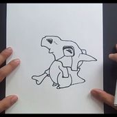 Como dibujar a Cubone paso a paso - Pokemon | How to draw Cubone - Pokemon