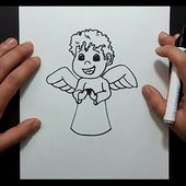 Como dibujar un angel paso a paso 4 | How to draw an angel 4