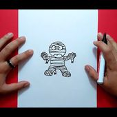 Como dibujar una momia paso a paso 3 | How to draw a mummy 3