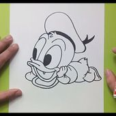 Como dibujar al pato Donald paso a paso 2 - Disney | How to draw Donald duck 2 - Disney