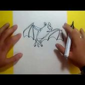 Como dibujar un murcielago paso a paso 5 | How to draw a bat 5