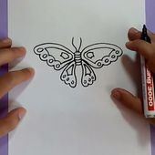 Como dibujar una mariposa paso a paso 10 | How to draw a butterfly 10