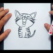 Como dibujar un gato paso a paso 28 | How to draw a cat 28