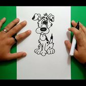 Como dibujar un perro paso a paso 28 | How to draw a dog 28