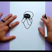 Como dibujar a Eva paso a paso - Wall.e | How to draw Eva - Wall.e