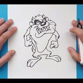 Como dibujar al Demonio de Tasmania paso a paso 3 - Looney Tunes | How to draw Taz 3 - Looney Tunes