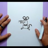 Como dibujar un raton paso a paso 10 | How to draw a mouse 10