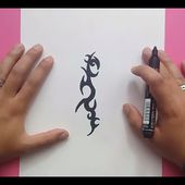 Como dibujar un tribal paso a paso 145 | How to draw one tribal 145