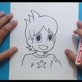Como dibujar a Nathan paso a paso - Yo Kai Watch | How to draw Nathan - Yo Kai Watch