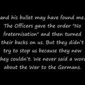 Stille Nacht- Silent Night. Words from Private Frank Sumpter.