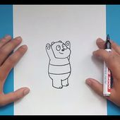 Como dibujar a Panda paso a paso - Somos Osos | How to draw Panda - We Bare Bears