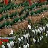 L'hymne russe chanté par l'armée lors d'un festival