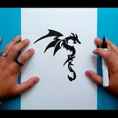 Como dibujar un dragon tribal paso a paso 2 | How to draw a tribal dragon 2