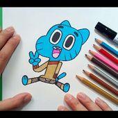 Como dibujar a Gumball paso a paso 5 - El asombroso mundo de Gumball | How to draw a Gumball 5