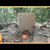 Primitive Technology: Termite clay kiln & pottery