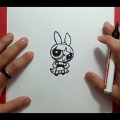 Como dibujar a Petalo paso a paso - Las Supernenas | How to draw Blossom - The Powerpuff Girls