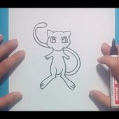 Como dibujar a Mew paso a paso - Pokemon | How to draw Mew - Pokemon