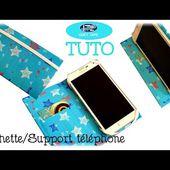 { Tuto } Support / Pochette téléphone en IT'z DUCT TAPE
