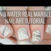Real White Marble Nail Art Tutorial | NO WATER Involved! | The Nailasaurus