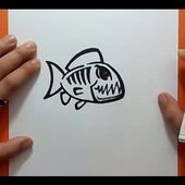 Como dibujar un pez paso a paso 13 | How to draw a fish 13