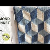 Crochet Diamond Blanket Tutorial in English
